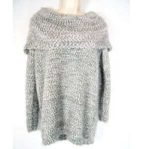 LAUREN CONRAD • Fuzzy Cowl Neck Sweater | XL